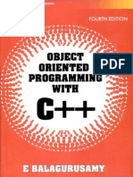 Object Orieted Programming With C++ Balagurusamy [Full Text]