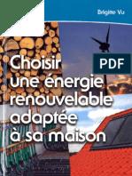 choisir une energie renouvelable adaptee à sa maison