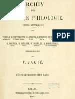 Archiv für slavische Philologie 35