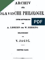 Archiv für slavische Philologie 3