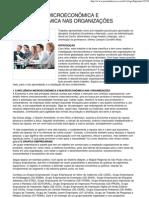 A influência microeconômica e macroeconômica nas organizações