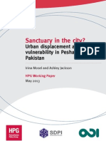 Sanctuary in the City? Urban displacement and vulnerability in Peshawar, Pakistan