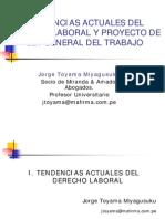 Tendencias Actuales Laborales y Proyecto de Ley General Del Trabajo- Toyama