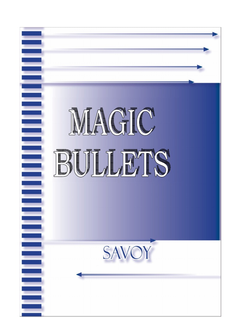 Savoy magic bullets malvernweather Gallery
