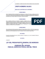 Ley Presupuesto 2013