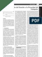 PROTECCIÓN DEL DERECHO LABORAL A LA PRIVACIDAD