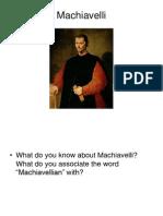 02. POl C212 Machiavelli and Modernity