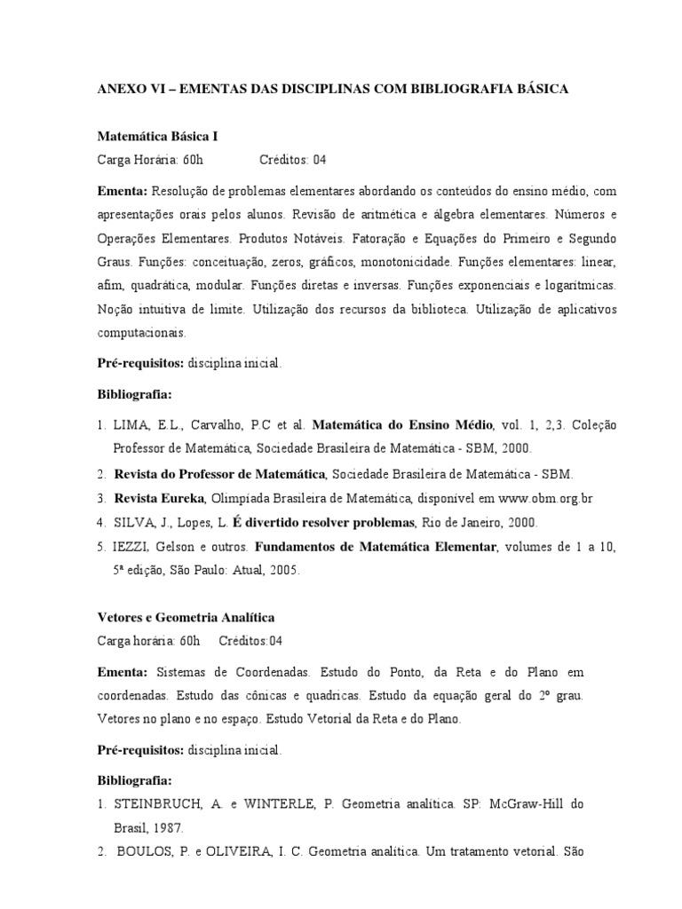 Anexo VI - Ementas 7f8eb752d504b