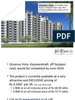 Oceanus Vista,Off Sarjapur Road,Bangalore east WeOwn.in gives exclusive discounts for its user groups.