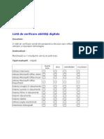 Lista de Verificare Abilitati Digitale