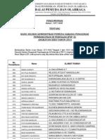Surat Pengumuman Hasil Seleksi Psp-3