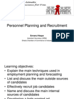 Personnel Planning and Recruitment