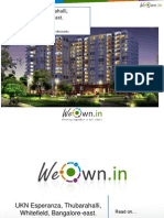 UKN Esperanza,Thubarahalli,Whitefield,Bangalore East.