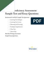 English Proficiency Test Sample