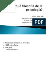 Porqué filosofía de la psicología