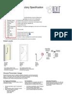 DoorFactory Specifications
