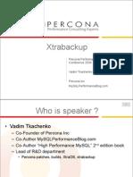 Xtrabackup online backup for InnoDB/XTraDB