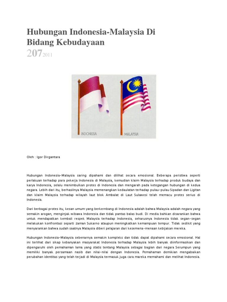 Hubungan Indonesia N Malaysia Artikel