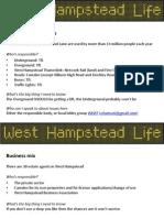 West Hampstead Fact Sheet
