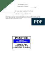 OHSA Construction Regulations 2003
