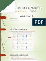 MANUAL DE INSTALACIÓN DE PENTAHO PARA WINDOWS 7