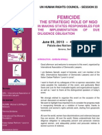FEMICIDE