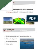 Meteodyn Complex Terrain Modeling CFD Software Bolund Hill Round Robin Test