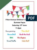 Filton Avenue Childrens Centre Summer Fayre Poster