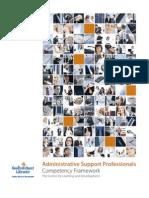 Administrative Competency Framework