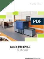 Brochure Bizhub PRO C70hc 31