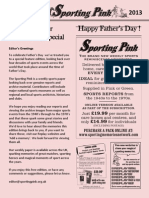 The Sporting Pink Father's Day 2013 Special Edition