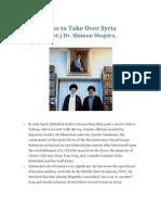 Iran's Plans to Take Over Syria