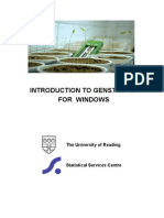Introduction to GenStat 10 for Windows
