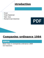13083671 Companies Ordinance 1984Presentation