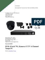 Kamera Cctv Paket Murah Dan Berkualitas