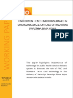FINO Driven Health Microinsurance in Unorganised Sector - RSBY