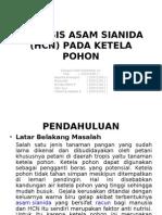 Analisis Asam Sianida (Hcn) Pada Ketela