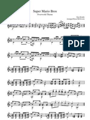 Super Mario Bros Overworld Theme (sheet music)