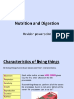 Nutrition and Digestion - Revision