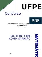 Matematica Assistente Em Adm Pernambuco