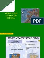 TEMA 5 - LOS CLIMAS DE ESPAÑA-VERSION WEB