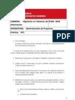 Practica - 1 Administración de proyectos