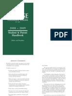 Chase Collegiate School Student Handbook 2008-2009