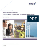 Canterbury Development Requirements Study - Sustainability Appraisal (AMEC 2012-06)