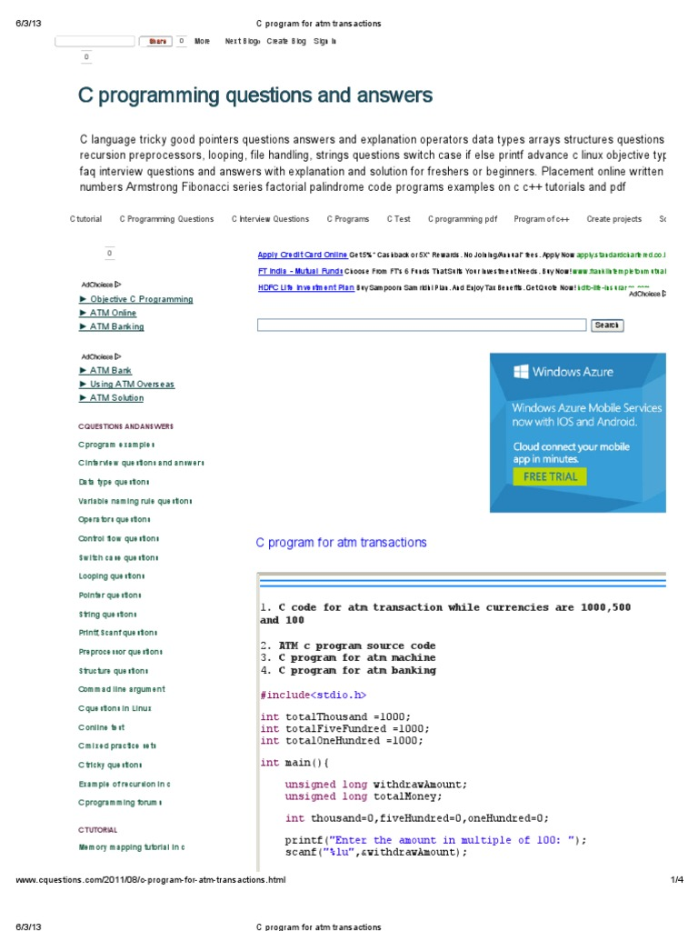 switch case in c programming examples pdf