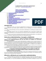 Estructura Administrativa Desarrollo Organizacional