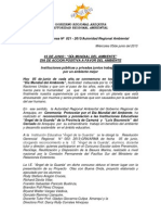 Boletin de Prensa 021 - 2013- Dia Mundial Del Ambiente 2