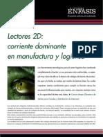 Lectores 2D corriente dominante en manufactura y logística