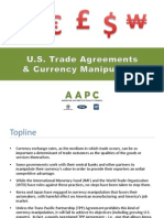 U.S. Trade Agreements and Currency Manipulation