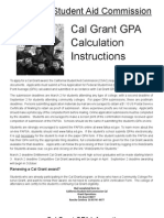 Cal Grant Calculation